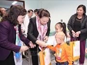 Presidenta parlamentaria de Vietnam destaca importancia de prestar mayor apoyo a niños con cáncer