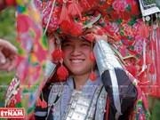 """Ceremonia misteriosa de """"capsac"""" de etnia Dao rojo"""