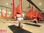 El yoga con cuerda, ejercicio favorito de mujeres en Vietnam