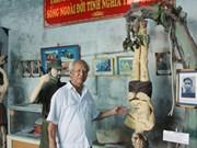 Veterano vietnamita y su museo de recuerdos de la guerra