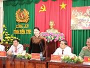 Dirigentes vietnamitas felicitan a unidades policiales y militares en ocasión del Tet