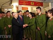 Máximo dirigente político de Vietnam felicita a fuerzas policíacas por el Tet 2019