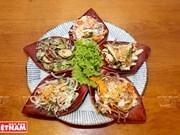 Plato de ensalada de cinco colores, típico del sur de Vietnam