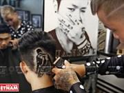 Creación de diseño en el cabello