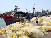 Aldea de procesamiento de mariscos de Sa Huynh en Vietnam