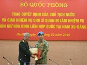Otro oficial vietnamita asignado al servicio de mantenimiento de la paz en Sudán del Sur