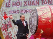 Vicepremier Truong Hoa Binh inicia la fiesta primaveral en Pagoda Tam Chuc