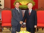 Aboga máximo dirigente de Vietnam por fomento de cooperación en seguridad pública con Laos
