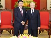 Fortalecerá visita a Laos de máximo dirigente de Vietnam relaciones bilaterales