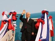 Máximo dirigente vietnamita Nguyen Phu Trong inicia visitas a Laos y Cambodia