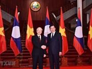 Máximo político vietnamita se reúne con dirigentes laosianos