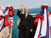 Destaca prensa tailandesa gira del máximo dirigente vietnamita por Laos y Camboya