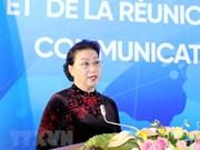 Destaca máxima legisladora vietnamita papel de la Alianza Francófona en la arena internacional