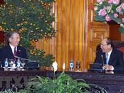 Premier vietnamita recibe al presidente de Comisión de Cooperación Económica Japón-Mekong