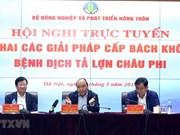 Urge premier vietnamita a desplegar medidas drásticas contra la peste porcina africana