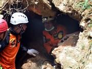 Suspenden en Indonesia búsqueda de víctimas de derrumbe de mina