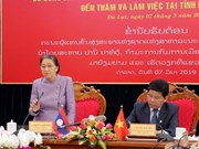 Aboga líder parlamentaria de Laos por fortalecer la cooperación entre su país y Vietnam