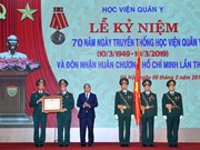 Universidad Médica Militar de Vietnam honrada con la Orden de Ho Chi Minh