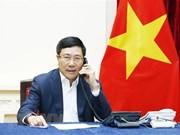 Vicepremier vietnamita mantiene conversación telefónica con canciller de Malasia