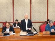 Revisa máximo dirigente vietnamita la implementación de resolución sobre construcción partidista