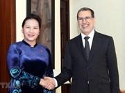 Recibe primer ministro de Marruecos a la presidenta de la Asamblea Nacional de Vietnam