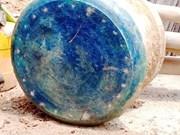 Descubren en Vietnam tambor de bronce con más de dos mil años de antigüedad