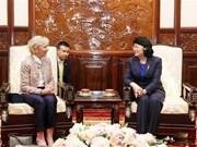 Vicepresidenta vietnamita destaca asistencia de Operación Sonrisa a niños discapacitados