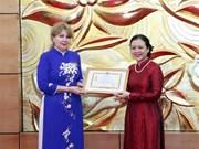 Vietnam aplaude aportes de diplomática armenia a relaciones bilaterales