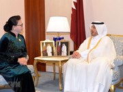 Presidenta parlamentaria vietnamita se reúne con premier qatarí