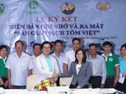 Presentan en Vietnam primer salón de transacciones de camarones