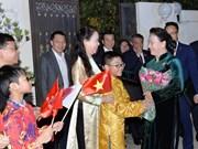Máxima legisladora vietnamita se reúne con connacionales residentes en Qatar