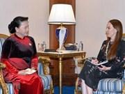Presidenta del Parlamento de Vietnam se reúne con titular de la UIP