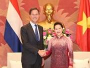 Presidenta parlamentaria se reúne con el primer ministro neerlandés