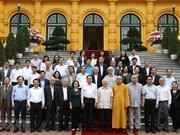 Destaca máximo dirigente de Vietnam papel del Frente de la Patria