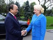 Viorica Dancila preside acto de bienvenida al primer ministro vietnamita en Bucarest