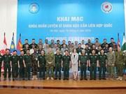 Inauguran curso de capacitación para oficiales en unidad de logística de la ONU
