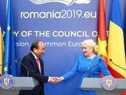 Destacan declaración conjunta suscrita durante visita del premier de Vietnam a Rumania