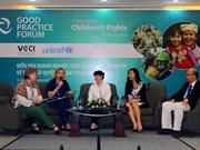 Efectúan en Vietnam foro sobre el respeto por las empresas de los derechos de los niños