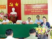 Presidenta de Asamblea Nacional de Vietnam dialoga con votantes en ciudad sureña