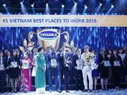 Empresa láctea Vinamilk, mejor lugar para trabajar en Vietnam en 2018