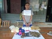 Policía vietnamita arresta a un narcotraficante laosiano