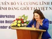 Reconoce la ONU mejoramiento en la posición de las mujeres en Vietnam