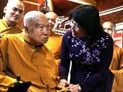 Vicepresidenta de Vietnam felicita a dignatario budista por el Día de Vesak