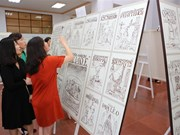 Exponen en Vietnam dibujos sobre civilización incaica de Perú