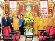 Presidenta del Parlamento de Vietnam felicita a Sangha Budista por éxito del Día de Vesak