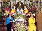 Presidenta del Parlamento visita a patriarca supremo de Sangha Budista de Vietnam