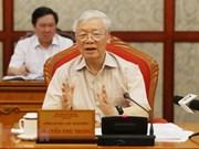 Máximo dirigente de Vietnam preside reunión del Buró Político