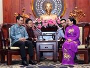 Fomentan lazos de amistad entre uniones juveniles de Ciudad Ho Chi Minh y Laos