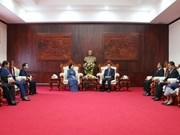 Comparten Vietnam y Laos experiencias en movilización de masas