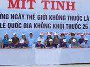 Firman en provincia de Ninh Binh compromiso nacional contra el tabaquismo